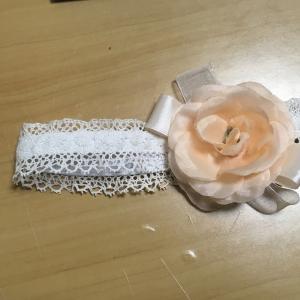初節句の雛祭り🌸100均の造花とリボンでヘアバンドを自作🎀