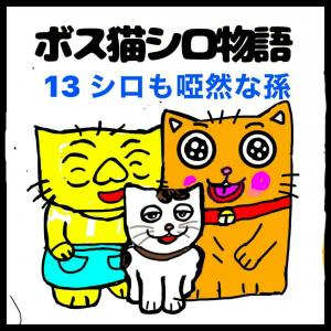 四コママンガ擬き「ボス猫シロ物語13」