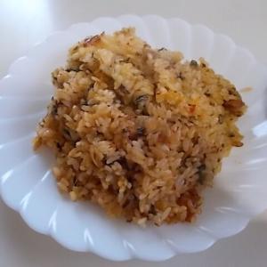 お手軽に作れるキムチチャーハン風の炊き込みご飯