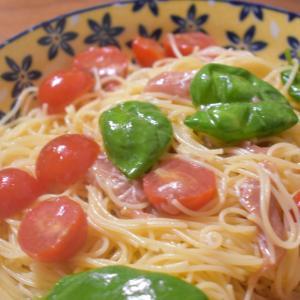 夏にぴったり!!「トマトとバジルの冷製パスタ」の簡単レシピを紹介