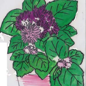 夏の花 ~アゲラタム~