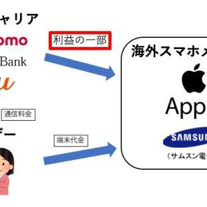 ケータイの2年縛りで日本の資金が海外に流出している話
