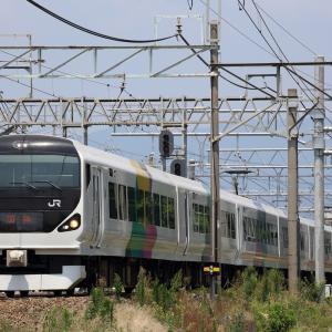 編成逆向きE257系を撮る in南松本