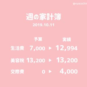 家計簿公開 | 2019.10.11