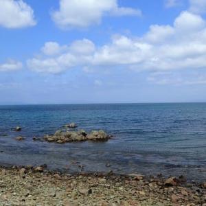 穏やかな海にて