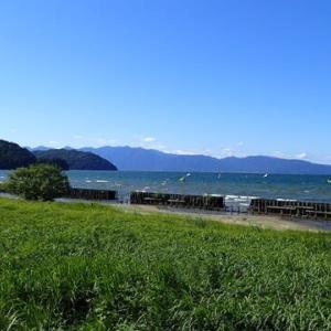 久しぶりに琵琶湖