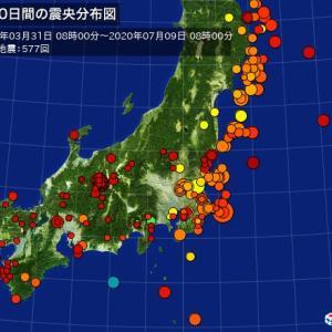 地震で目が覚めた(最近地震が多いのが心配だ)