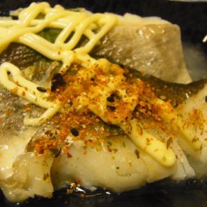 ナカムラ水産タラ切身をバター焼きマヨネーズがけで