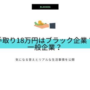 手取り18万円はブラック企業?一般企業?気になる答えとリアルな生活事情を公開