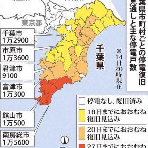 「赤の他人でいられない」=迫る雨、ボランティア本格化―停電なお11万戸超・千葉