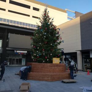 南町田グランベリーパーク クリスマス準備