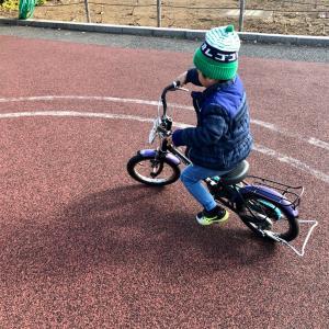 今日も自転車の練習