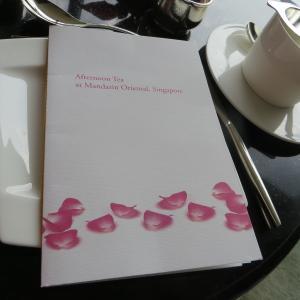 MO BARのAfternoon Tea@マンダリンオリエンタルホテルシンガポール Mandarin Oriental Singapore (旧Axis Bar and Lounge)
