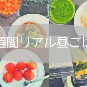 【少食】主婦の1週間、リアル昼ごはん。