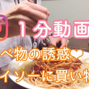 【動画】食べ物の誘惑、ダイソーに買い物 『インスタ動画』