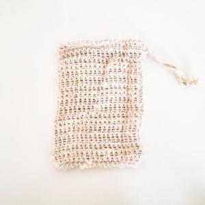 小さくなった石鹸を入れる麻のバッグ