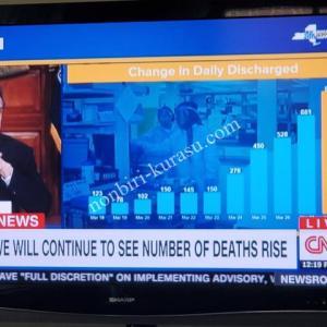 【アメリカ】新型コロナウイルスの死者数のピークは2週間後を予想