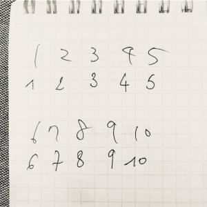 フランスの数字の書き方