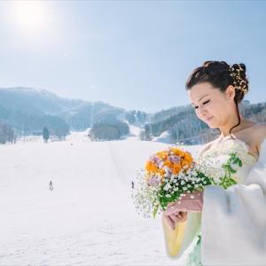 スキー場&雪景色でウエディングフォトしませんか?【長野】
