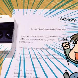 Galaxy Note10+購入特典のGalaxy Budsが届いた!