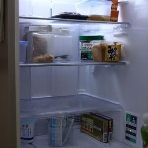 冷蔵庫の掃除は週末に