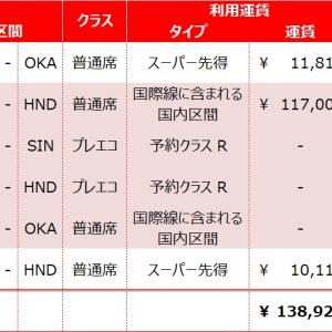 【☆JGC 修行への旅☆-その10-】第一弾「OKA-SIN」始動! -FOP単価7.5円で飛行機を予約!!-