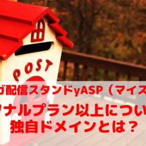 MyASP(マイスピー)のパーソナルプラン以上についてくる独自ドメインとは?