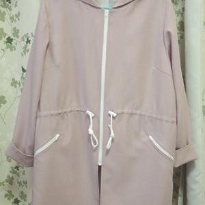 ハーフコート完成とユニバーサルデザインの巾着袋