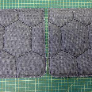 綿入りコートのポケットと衿を作る