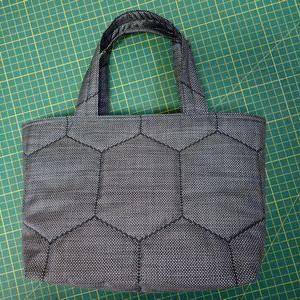 大島紬のミニトートバッグ完成
