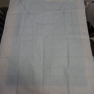 ラグラン袖の冬物コートを製図する