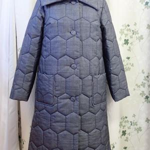 【大島紬の綿入りコート】ヤフオクに出品中