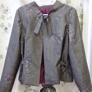 大島紬のジャケットを作り始める