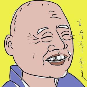 似顔絵・古今亭志ん生