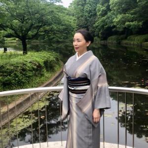 着物で後楽園〜皇居〜神楽坂 付け帯着用15