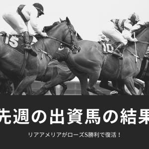 【先週の出資馬】ローズステークス快勝でリアアメリア復活!