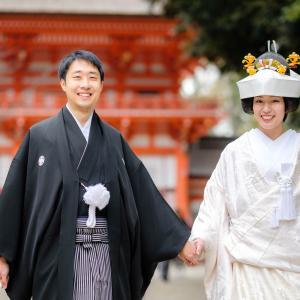 京都 下鴨神社+料亭竹茂楼で結婚式の写真撮影。和やかに美しく。