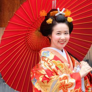 地毛結い文金高島田で京都和装前撮り。