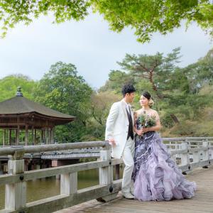 奈良での前撮り。