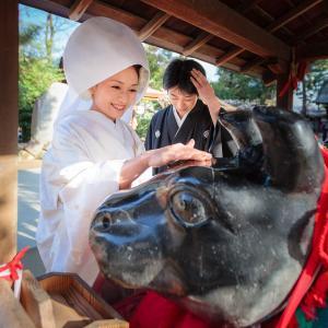 京都 北野天満宮で結婚式の出張撮影