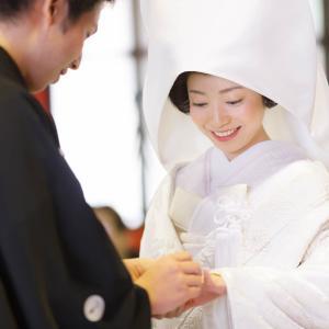 神社での結婚式写真、こんな感じで撮ってます。