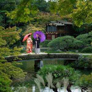 神戸 相楽園での和装前撮り