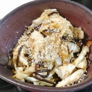 キャベツと塩昆布の簡易漬物