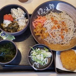 ゆで太郎の焼鯖明太高菜ごはんセット