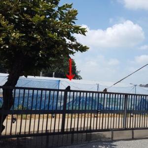 フェンスの吊りが破損