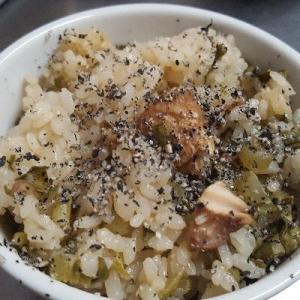 高菜のしょうゆ漬け炊き込みご飯