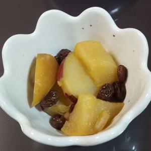 サツマイモとリンゴの甘煮