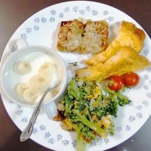 本日の朝食は・・・ワンプレートで