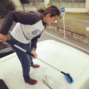 キャンピグカー洗車