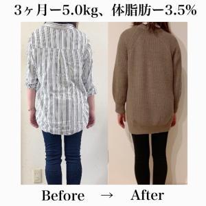 【3ヶ月ー5.0kg達成で美容体重クリア!】